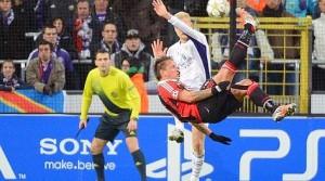 Anderlecht Milan 1-3, incredibile gol di Philippe Mexes
