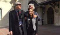 Beppe Grillo, Casaleggio e la più giovane attivista al Quirinale