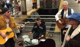 Gli U2 sorprendono i newyorkesi con concerto a sorpresa in metro